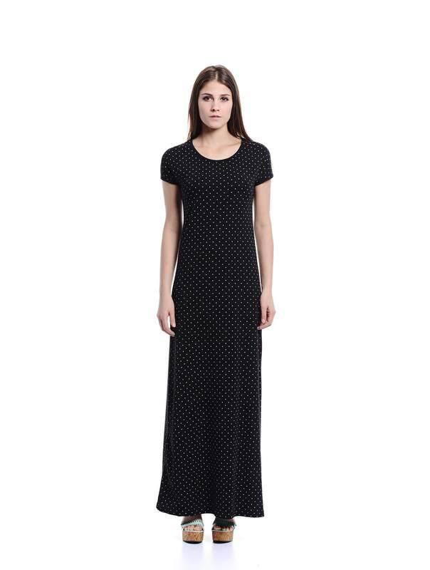 Jazz & Co Women black maxi dress ( black )