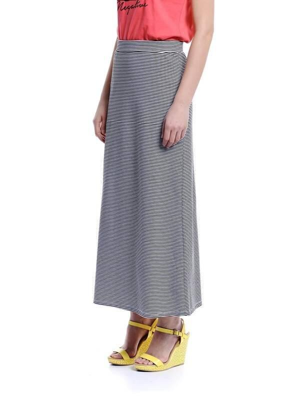 Jazz & Co Women Maxi Stripe Skirts ( Black )