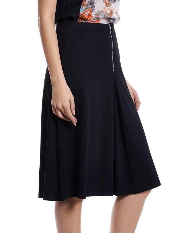 Jazz & Co Women Midi Plain Skirts ( Black )