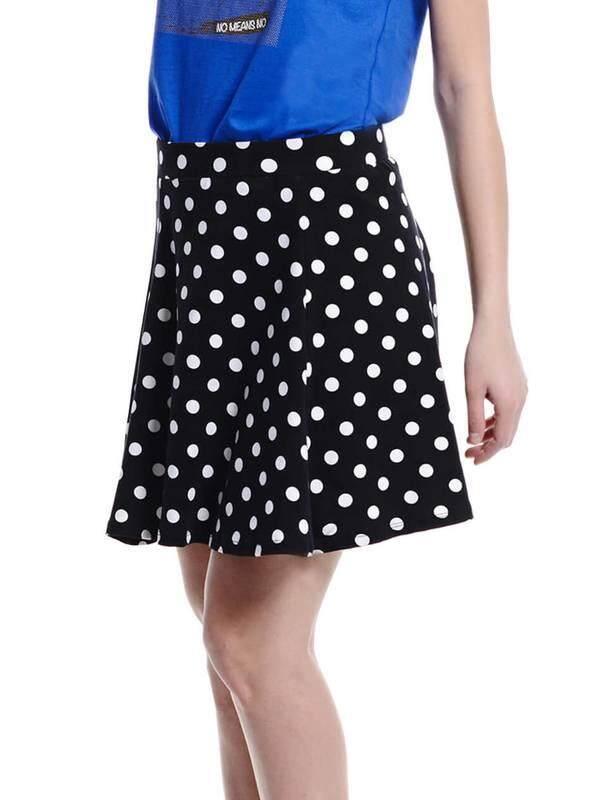 Jazz & Co Women Pokka Dot Mini Skirts ( Black )