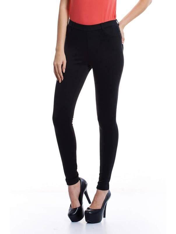 Jazz & Co Women Slim Straight Pants ( Black )