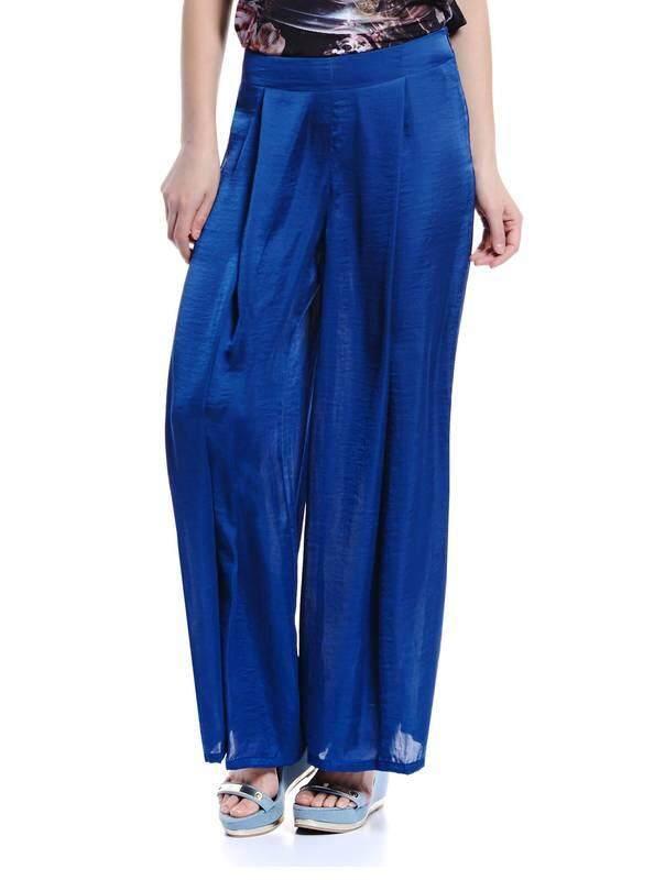 Jazz & Co Women Flared Long Pants ( Blue )