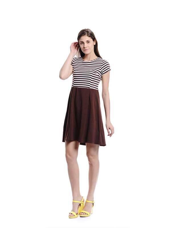 Jazz & Co Women brown midi dress ( brown )