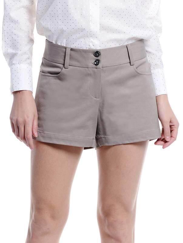 Jazz & Co Women Shorts ( Dark Khaki )