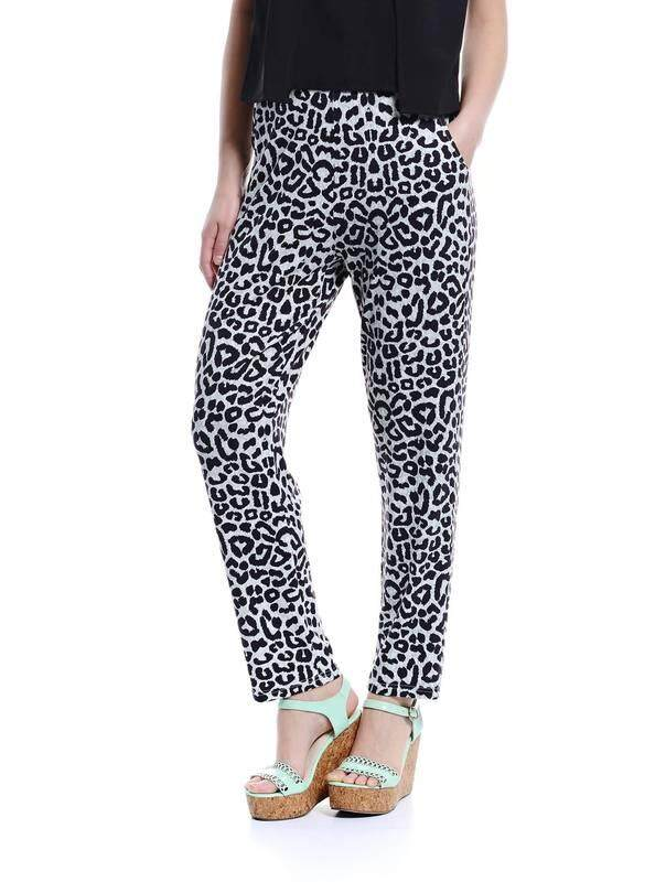 Jazz & Co Women Printed Easy Pants ( Grey)