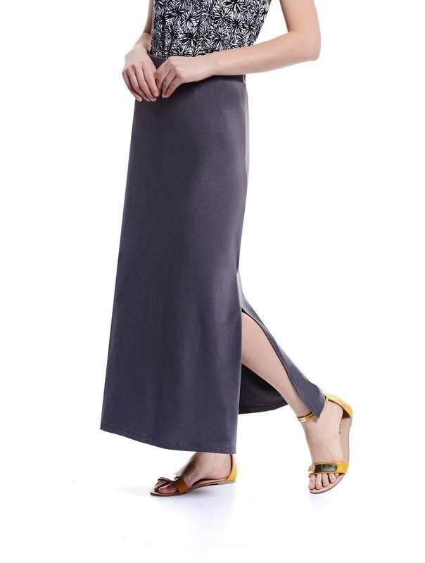 Jazz & Co Women gray maxi skirts ( gray )