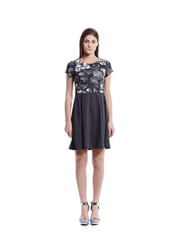 Jazz & Co Women gray midi dress( gray )