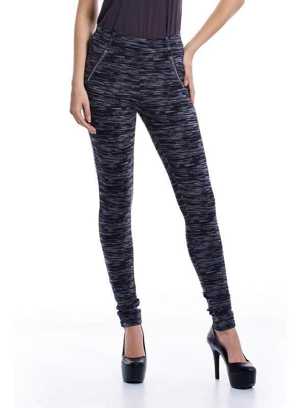 Jazz & Co Women Slim Stripez Pants ( Grey )