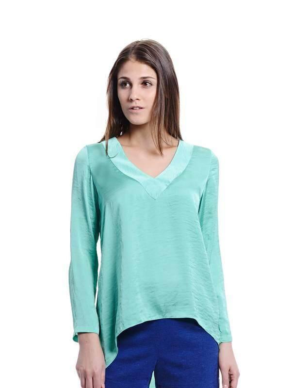 Jazz & Co Women green long sleeve tops ( green )