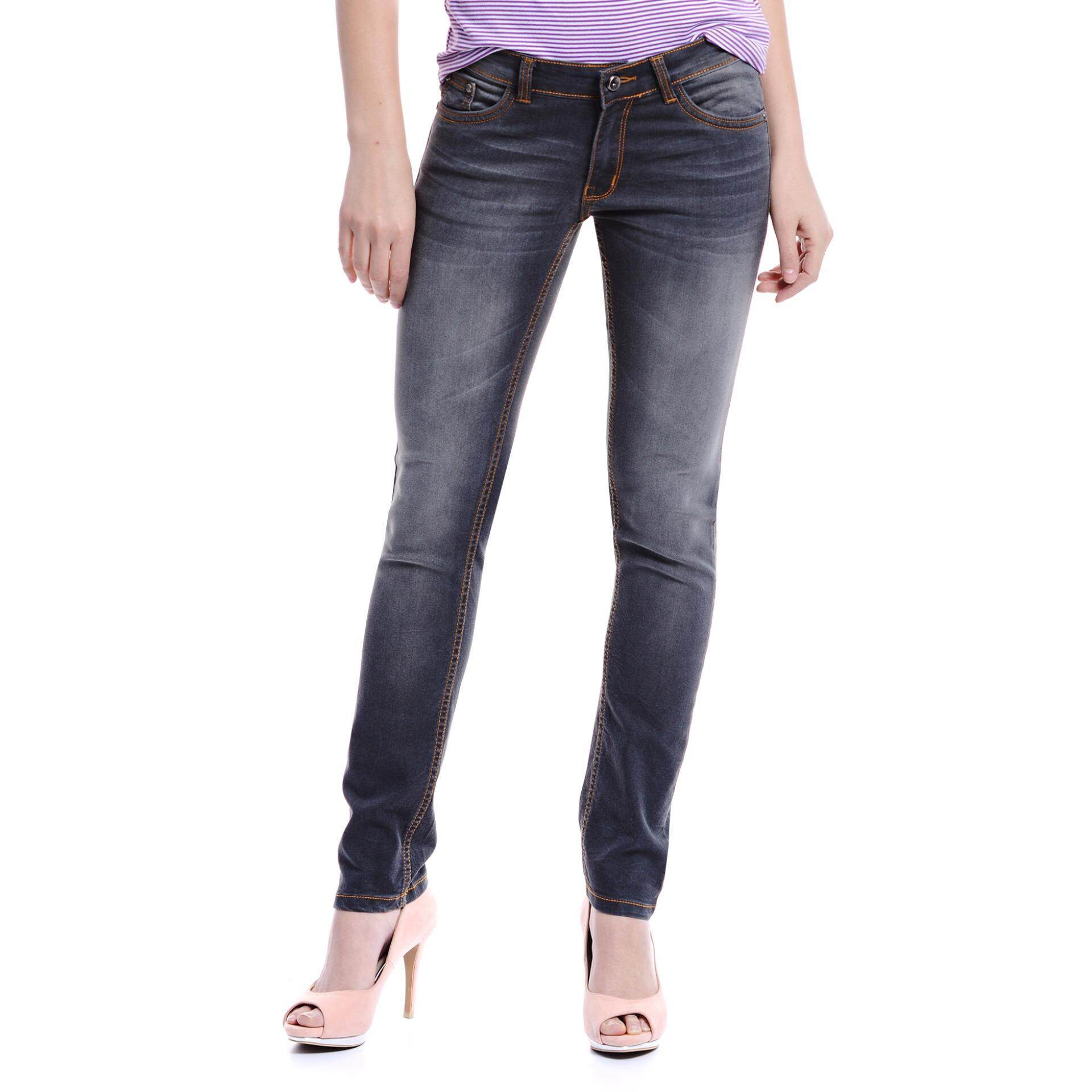 Jazz & Co Women Mid Rise Regular Jeans(Grey)