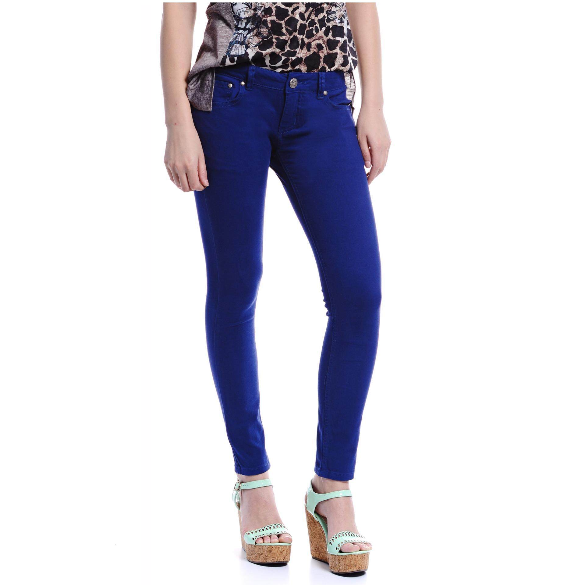 Jazz & Co Women Mid Rise Skinny Jeans( Blue)