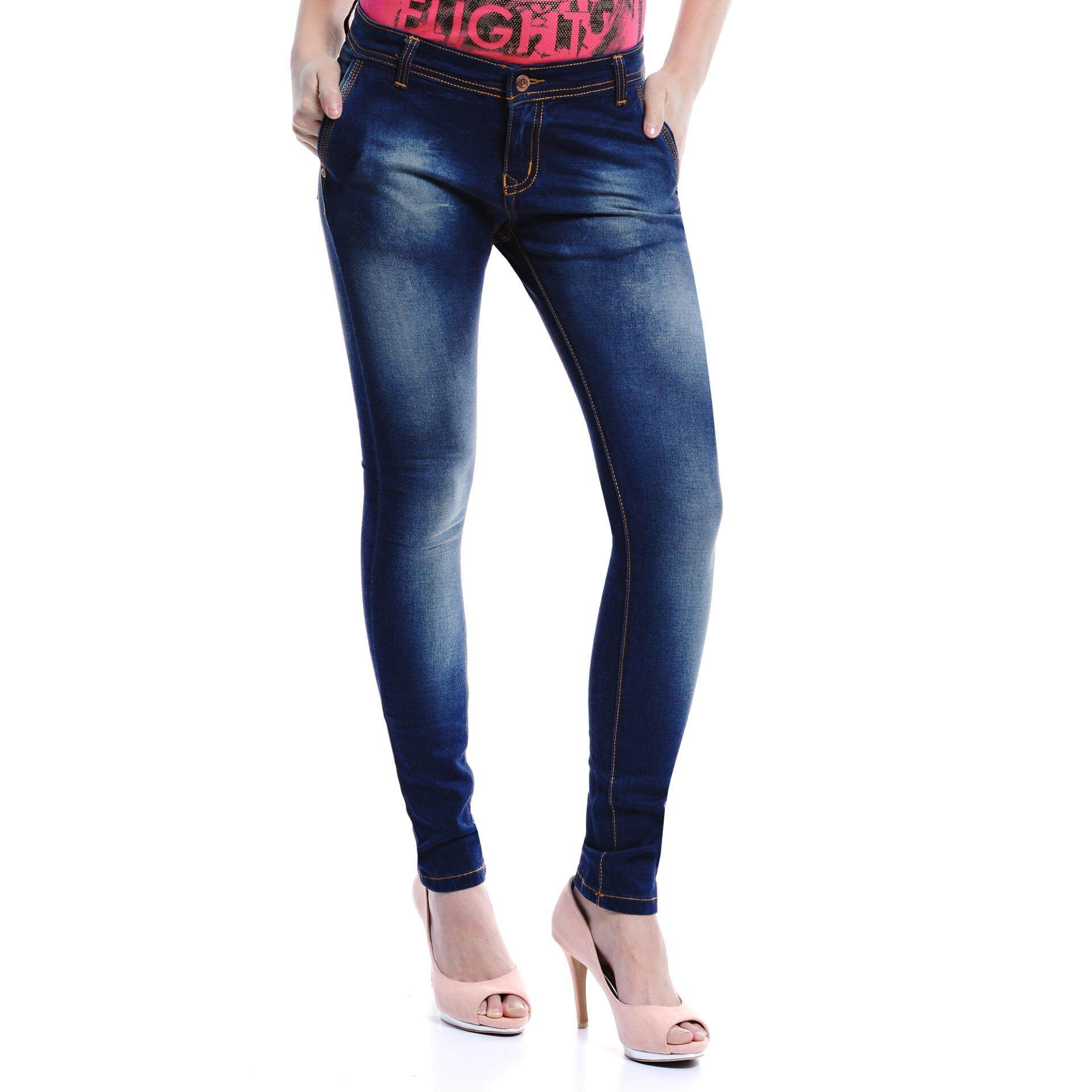Jazz & Co Women Mid Rise Skinny Jeans   (Indigo)