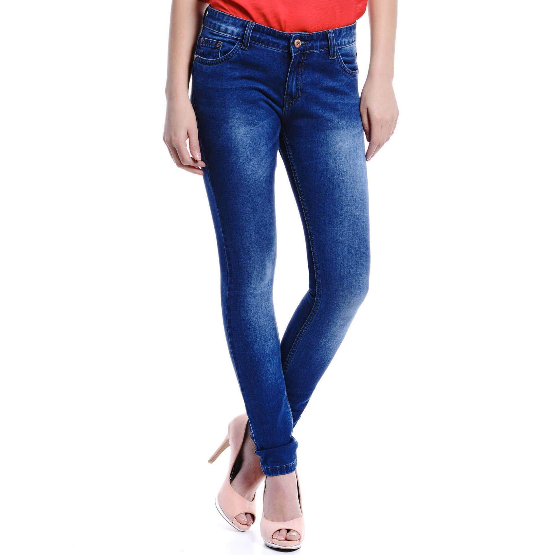 Jazz &Co Women Mid Rise Skinny Jeans (Indigo)
