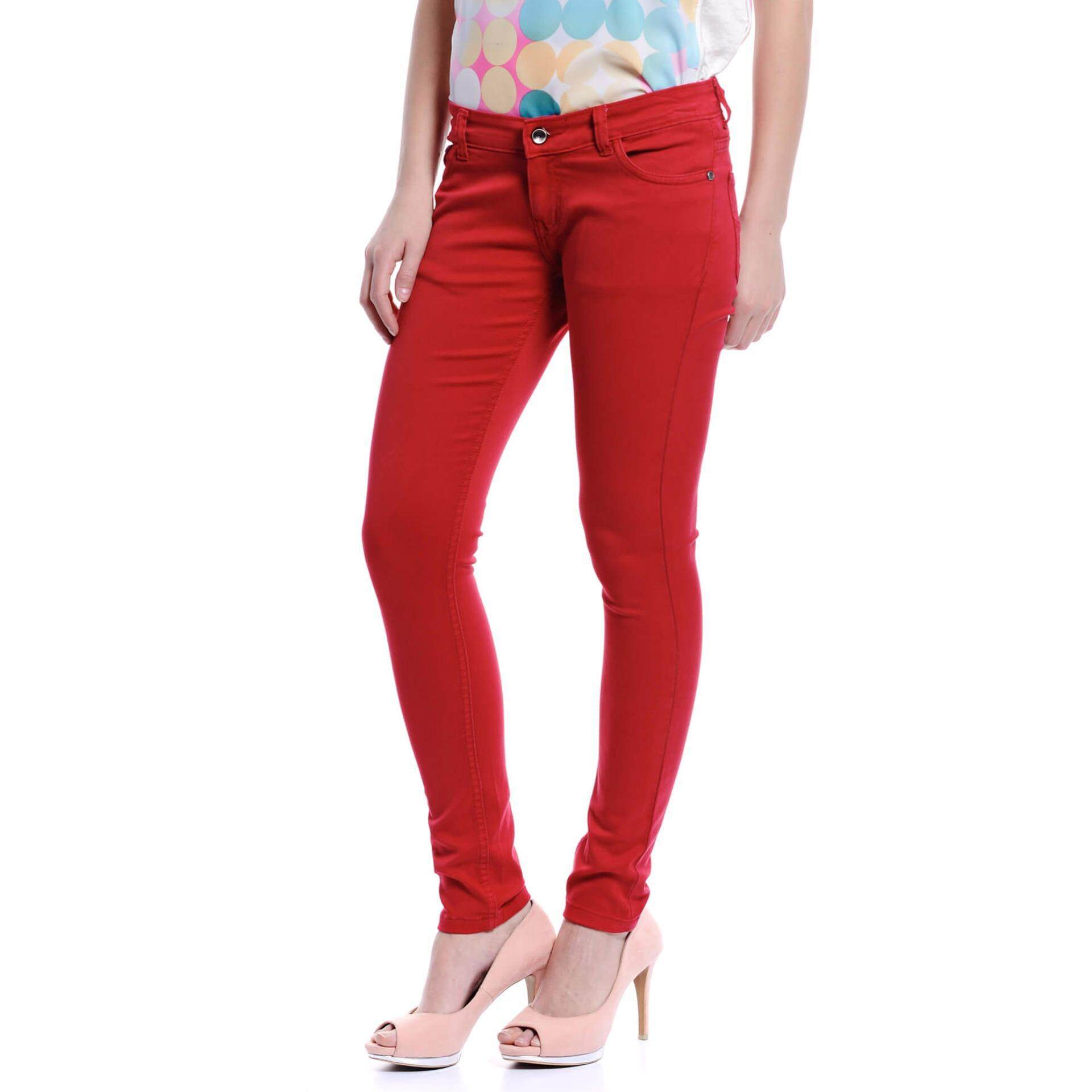 Jazz & Co Women Mid Rise Skinny Jeans (Red)