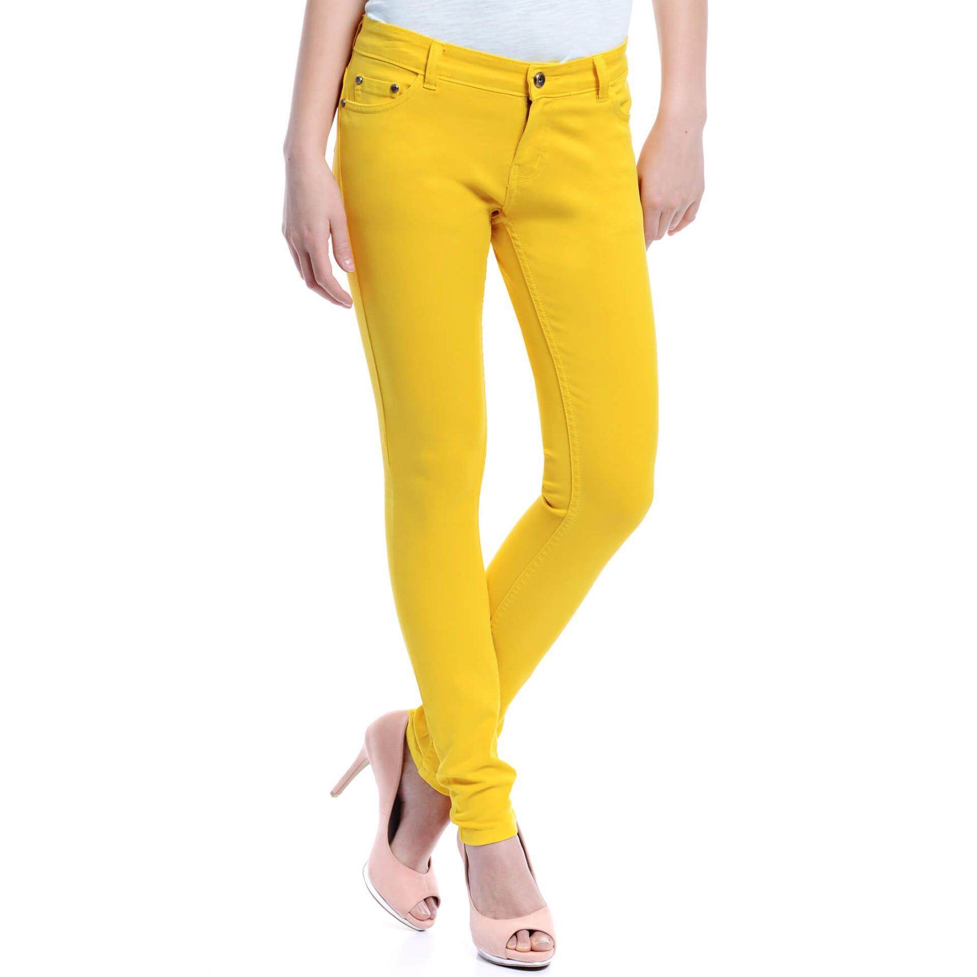 Jazz & Co Women Mid Rise Skinny Jeans (Yellow)
