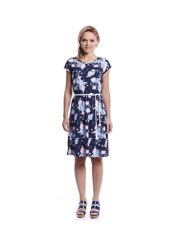 Jazz &Co Women navy midi dress ( navy )