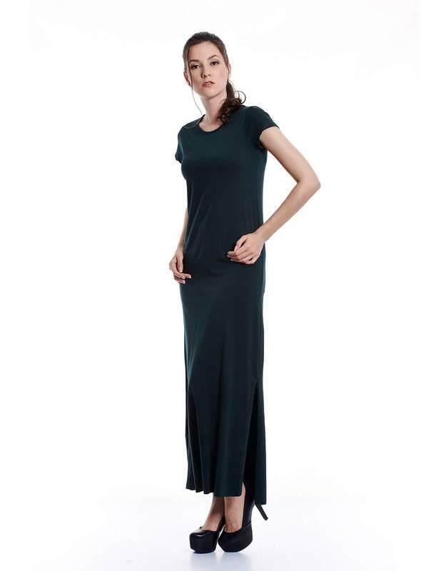 Jazz & Co Women olive maxi dress ( olive )