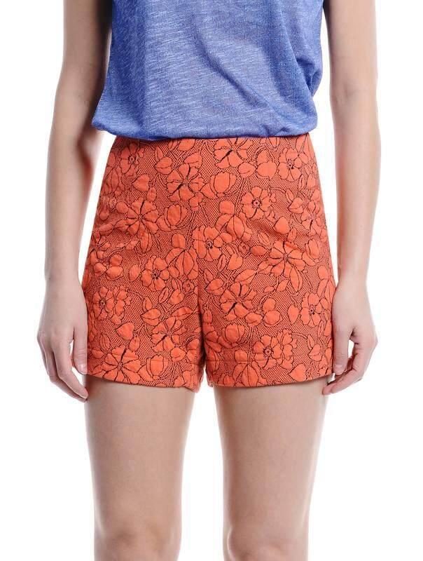 Jazz & Co Women Jacquard Shorts ( Orange )