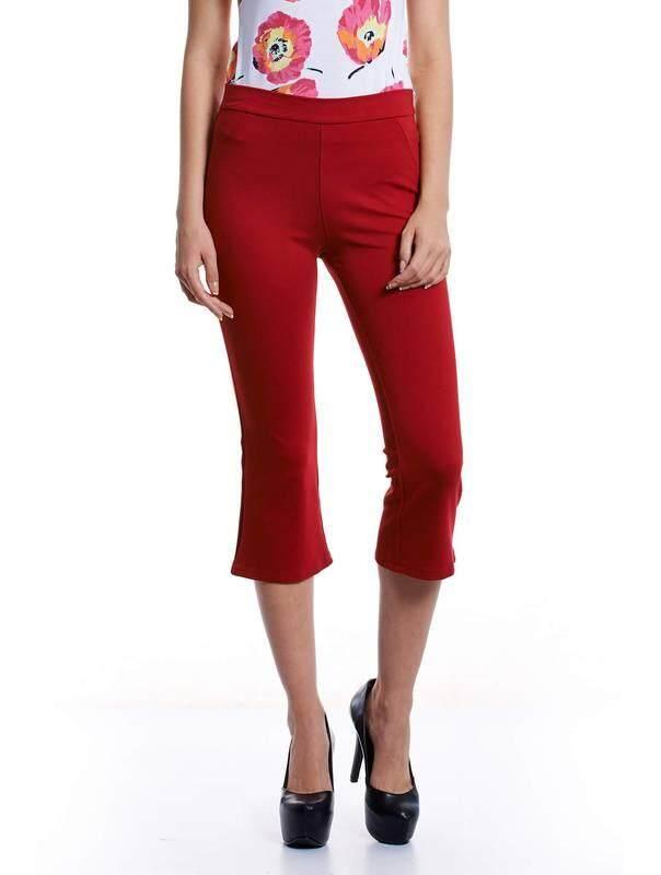 Jazz & Co Women Slim Crop Pants ( Red)