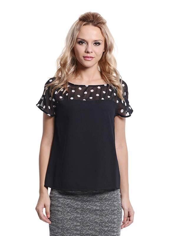 Jazz & Co Women Short Sleeve Tops ( Black )