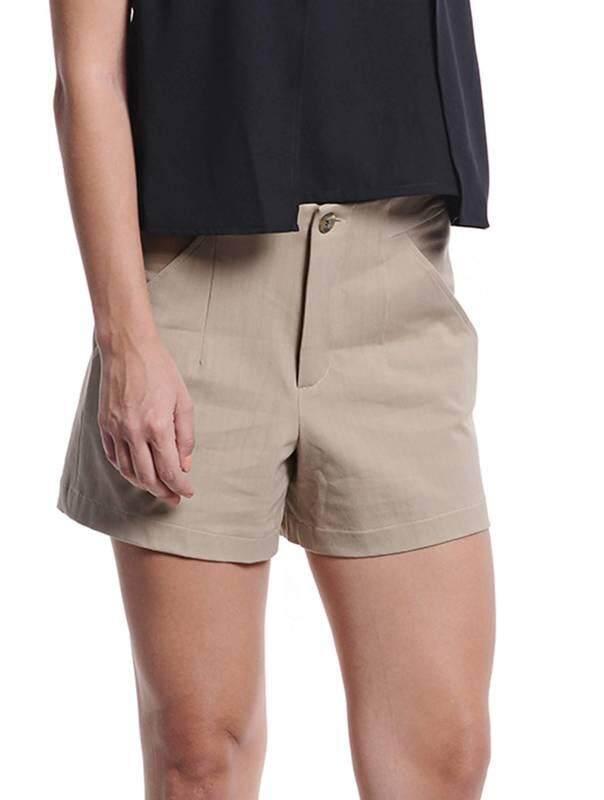 Jazz & Co Women Shorts (Khaki )