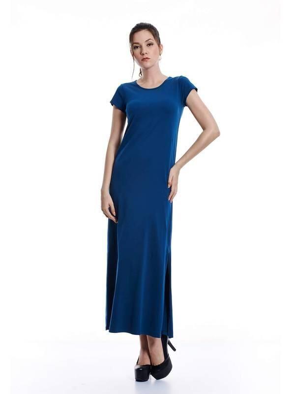 Jazz & Co Women teal maxi dress ( teal )