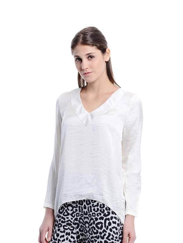 Jazz & Co Women white long sleeve tops (white)