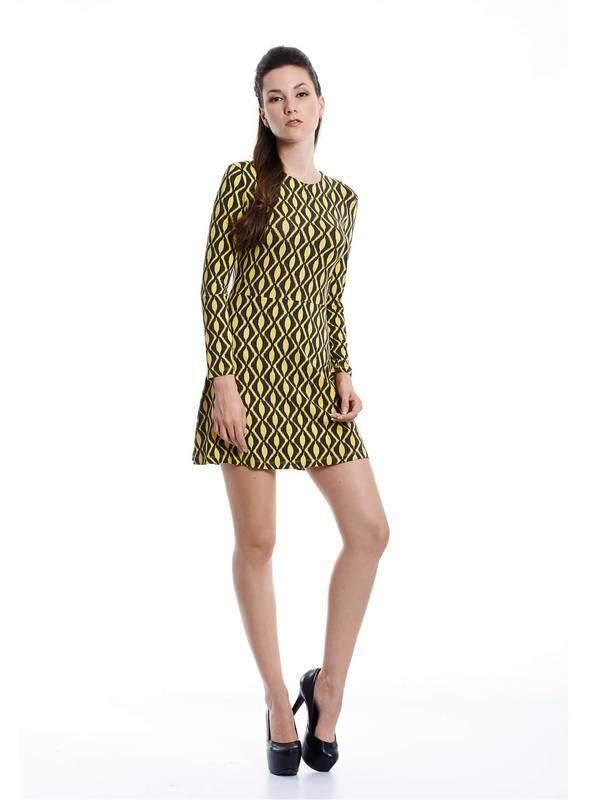 Jazz & Co Women yellow midi retro dress ( yellow )