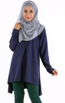JF Fashion Kemeja Blouse D352 (Navy-Blue)