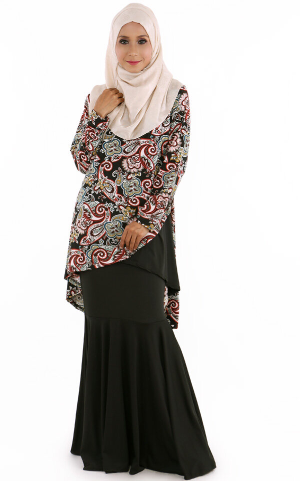 JF Fashion Lycra Overlap Paisley with Skirt J6773