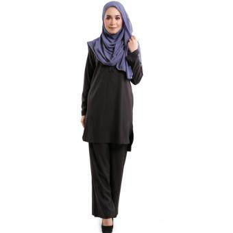 JF Fashion Wardah Suit Blouse and Pant D388 (Black)