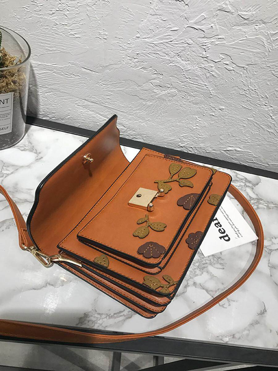 Fitur Jollychic Women Cross Body Bag Retro Flowers Messenger Sling Tassel Rumbai Detail Gambar Slingbag Brown Intl Terbaru