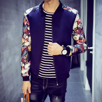 Jvr Korean-style Slim fit men's jacket New style men jacket (Where to buy-JK39-navy blue) (Where to buy-JK39-navy blue)
