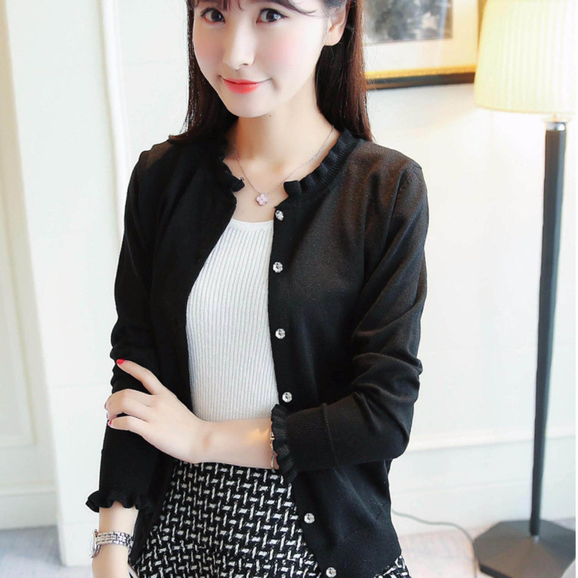 JYS Fashion Korean Style Knit Cardigan Collection 190-7383-Black