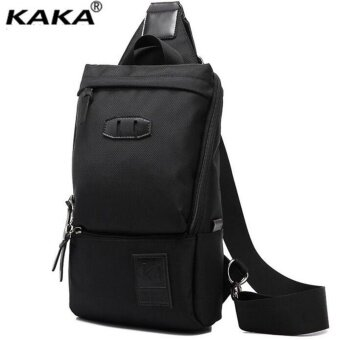 Harga KAKA Waterproof Oxford Casual Chest Pack Multi-function Chest Bag Fashion Crossbody Bag Travel Bag (Black)