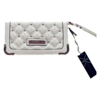 Kardashian Collection Quilted Wallet (Cream) - 2