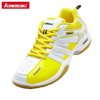 Harga Kawasaki K-116 Sneakers Mens Badminton Shoes Professional Anti-Slippery Breathable Man Athlete Indoor Sports Shoes for Badminton (Yellow)