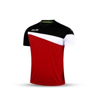 Kelme K15Z219 Men Short Sleeve Training Football Jersey (Red Black White)