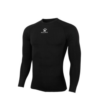 Kelme K15Z705 Men Quick-drying Unitard Long Sleeve Football Sport T-shirt Straitjacket (Black)