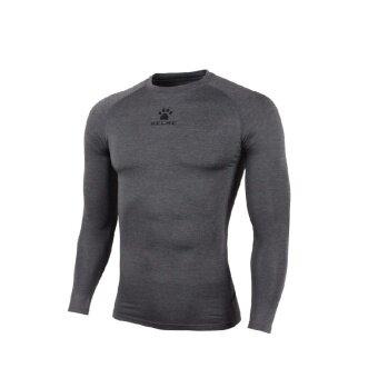 Kelme K15Z705 Men Quick-drying Unitard Long Sleeve Football Sport T-shirt Straitjacket (Dark Grey)
