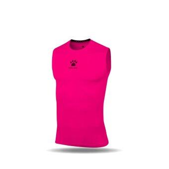 Kelme K15Z730 Men Quick-drying Unitard Thin Sleeveless High-elastic Wicking Sport T-shirt Weskit (Fluorescent Pink)