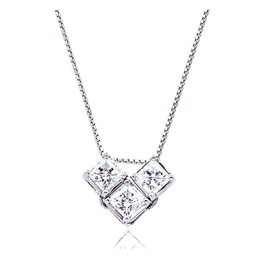 Kelvin Gems Multiway Secret Trilogy Pendant Necklace m/w Swarovski Zirconia