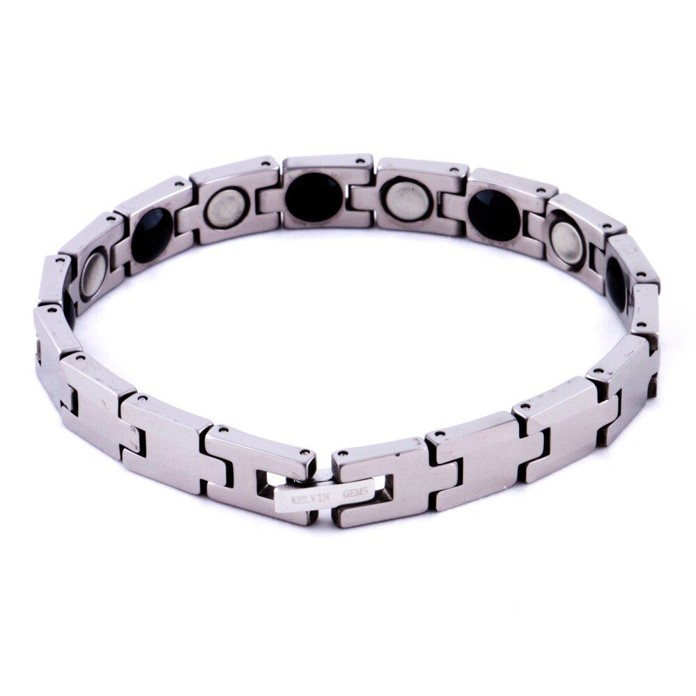 bracelets alternating contemporary tungsten shop with grooved link horizontal jewelry bracelet mgw metal vertical