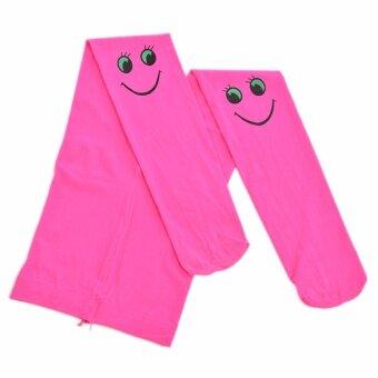 Anak Perempuan Pantyhose Beludru Lembut Stocking Stoking Gambar Senyum Peregangan Kaus Kaki Rose