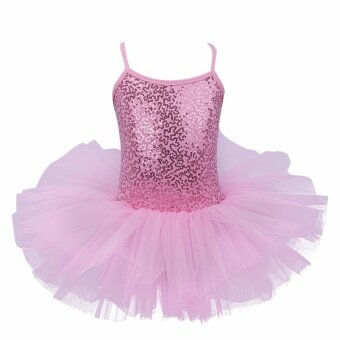 Harga Kids Girl's Wear Sequined Tutu Ballet Dance Leotard Dress forBallet