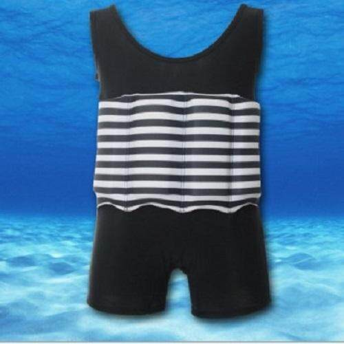 Kids SwimFloat Suit Black  / L