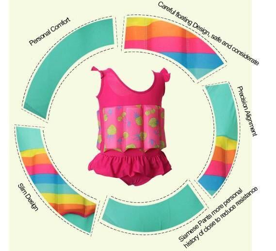 Kids SwimFloat Suit Pink / XXL