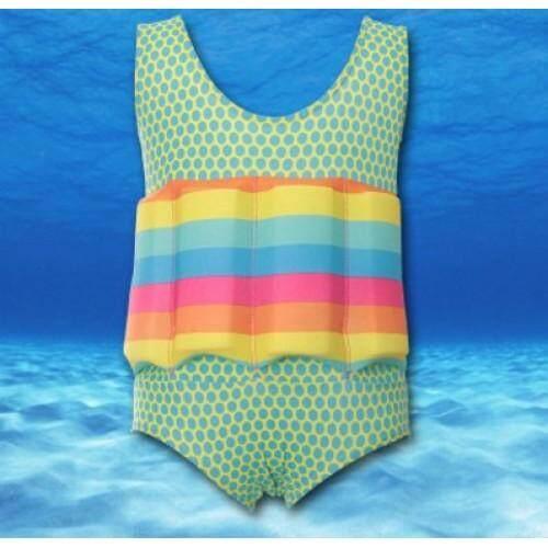 Kids SwimFloat Suit Polka Green / M