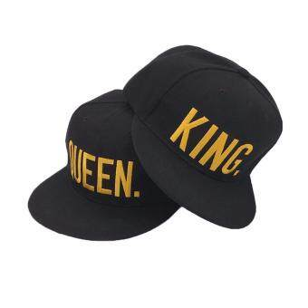 Harga King Queen Hip Hop Snapback Hat Baseball Caps Couple Lover's HatBoy Men Hat-King