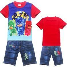ขาย Kisnow 2 10 ปีเด็กชาย 95 135 เซนติเมตรความสูงของร่างกาย 2 ชิ้นผ้าฝ้ายเสื้อ กางเกงยีนส์สั้น สี เป็นรูปหลัก นานาชาติ ออนไลน์